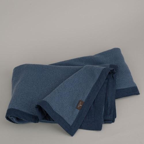 Terre-de-Coton-Denim-Blue-Basket-Weave-Reversible-Throw1