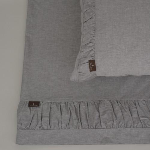 Terre de Coton Pleated Chambray Sheets