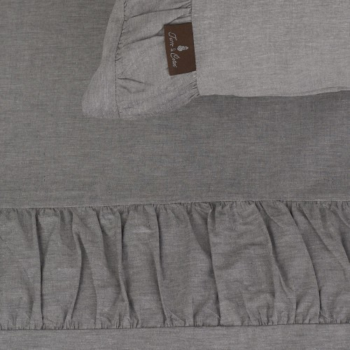Terre-de-Coton-Pleated-Chambray-Sheets