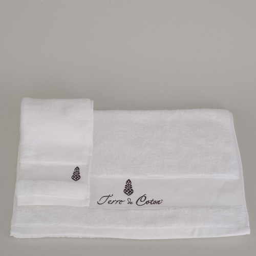 Terre-de-Coton-Snow-White-Terry-Towel