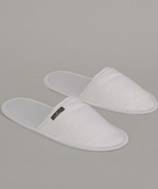 Terre-de-Coton-White-Weave-Slippers
