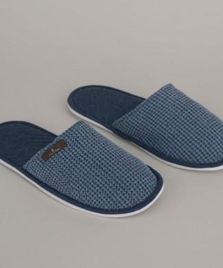 Terre-de-Cotton-Denim-Blue-Slippers